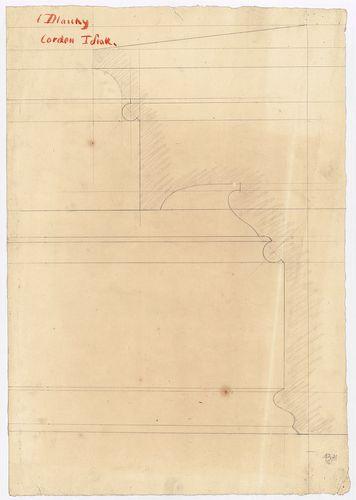 Dlauchy Károly háza. Első emeleti párkánymetszet. [HU BFL - XV.17.f.331.b - 43/11]