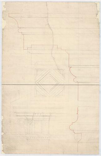 Dlauchy Károly háza. Párkányrészlet. [HU BFL - XV.17.f.331.b - 43/13]
