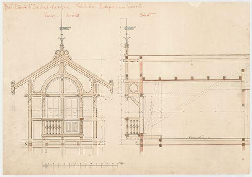 Erzsébet sósfürdő. Első emeleti faszerkezetű erkély. [HU BFL - XV.17.f.331.b - 46/2]