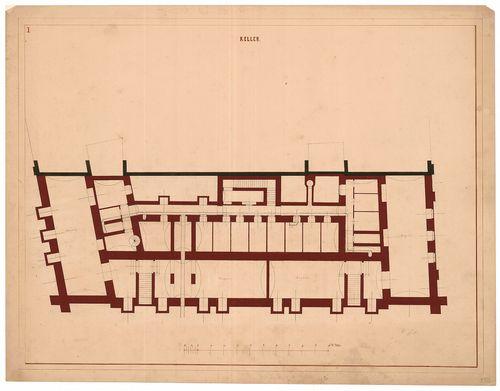 Magyar Tudományos Akadémia bérháza. Pince alaprajz. [HU BFL - XV.17.f.331.b - 51/3]