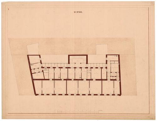 Magyar Tudományos Akadémia bérháza. Negyedik emeleti alapraj... [HU BFL - XV.17.f.331.b - 51/8]