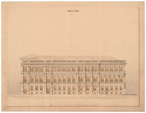 Magyar Tudományos Akadémia bérháza. Duna felőli homlokzat az... [HU BFL - XV.17.f.331.b - 51/9]