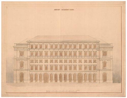 Magyar Tudományos Akadémia bérháza. A mai Arany János utcai ... [HU BFL - XV.17.f.331.b - 51/10]