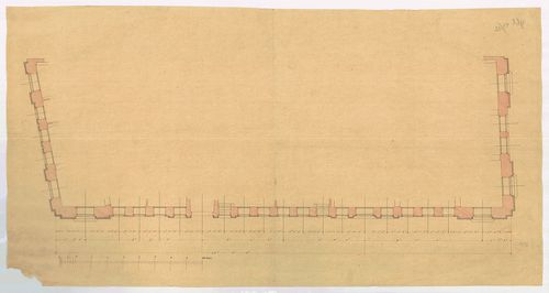Magyar Tudományos Akadémia bérháza. Lábazati alaprajz a nyíl... [HU BFL - XV.17.f.331.b - 51/12]