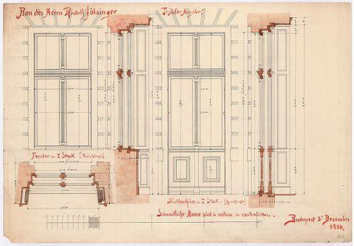 Fölsinger Rezső háza. Ajtó- és ablaktervek. [HU BFL - XV.17.f.331.b - 52/4]