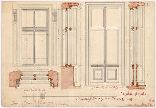 Fölsinger Rezső háza. Ajtó- és ablaktervek. [HU BFL - XV.17.f.331.b - 52/5]