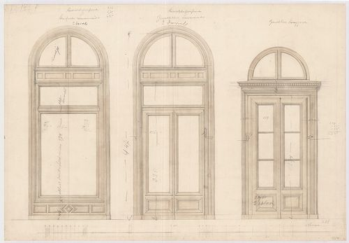 Fölsinger Rezső háza. Kirakat és boltajtó tervek. [HU BFL - XV.17.f.331.b - 52/7]
