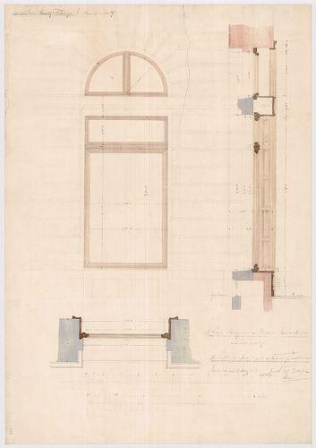 Fölsinger Rezső háza. Két darab tölgyfa kirakatablak terve. [HU BFL - XV.17.f.331.b - 52/8]