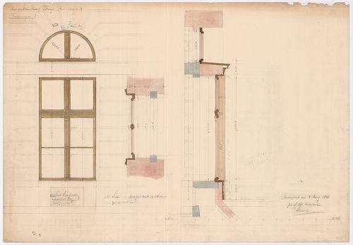 Fölsinger Rezső háza. Két darab kirakatablak terve puhafából... [HU BFL - XV.17.f.331.b - 52/9]