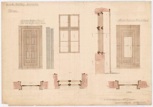 Fölsinger Rezső háza. Ajtó- és ablaktervek. [HU BFL - XV.17.f.331.b - 52/10]