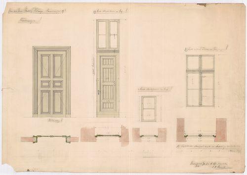 Fölsinger Rezső háza. Ajtó- és ablaktervek. [HU BFL - XV.17.f.331.b - 52/11]