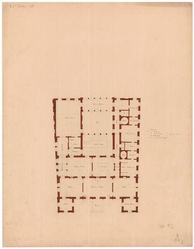Károlyi Alajos (Károlyi Lajos) gróf palotája. Első emeleti a... [HU BFL - XV.17.f.331.b - 55/2]
