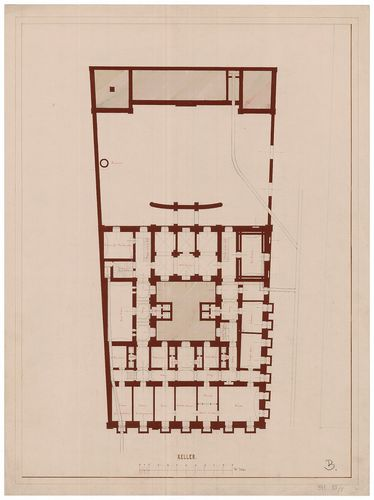 Károlyi Alajos (Károlyi Lajos) gróf palotája. Pince alaprajz... [HU BFL - XV.17.f.331.b - 55/5]