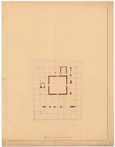 Károlyi Alajos (Károlyi Lajos) gróf palotája. Fedélszék alap... [HU BFL - XV.17.f.331.b - 55/12]