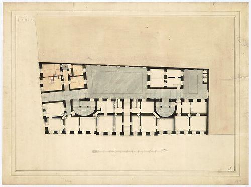 Károlyi György gróf palotabérháza. Földszinti alaprajz. [HU BFL - XV.17.f.331.b - 57/1]
