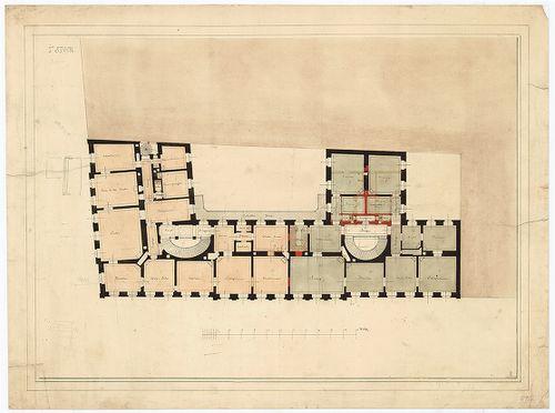 Károlyi György gróf palotabérháza. Első emeleti alaprajz, a ... [HU BFL - XV.17.f.331.b - 57/2]