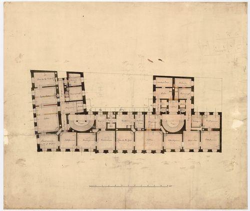 Károlyi György gróf palotabérháza. Második emeleti alaprajz,... [HU BFL - XV.17.f.331.b - 57/3]