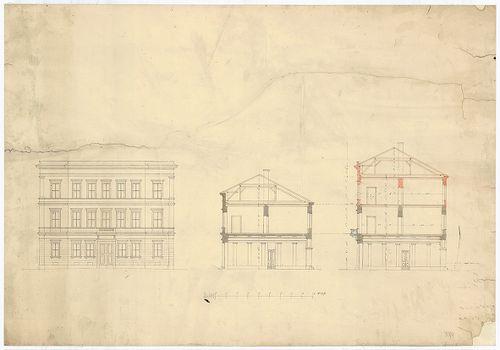 Károlyi György gróf palotabérháza. Eredeti, egyemeletes és k... [HU BFL - XV.17.f.331.b - 57/4]