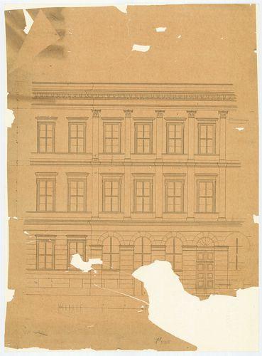Károlyi György gróf palotabérháza. Az Üllői úti homlokzat ré... [HU BFL - XV.17.f.331.b - 57/5]