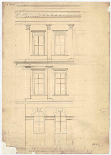 Károlyi György gróf palotabérháza. Főhomlokzat részlete. [HU BFL - XV.17.f.331.b - 57/6 r]