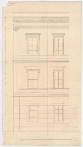 Károlyi György gróf palotabérháza. Oldalhomlokzat részlete. [HU BFL - XV.17.f.331.b - 57/7]