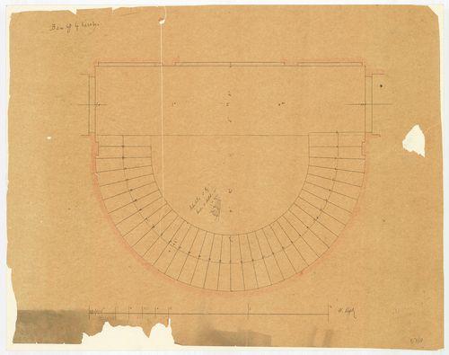 Károlyi György gróf palotabérháza. Íves lépcső alaprajza. [HU BFL - XV.17.f.331.b - 57/8]