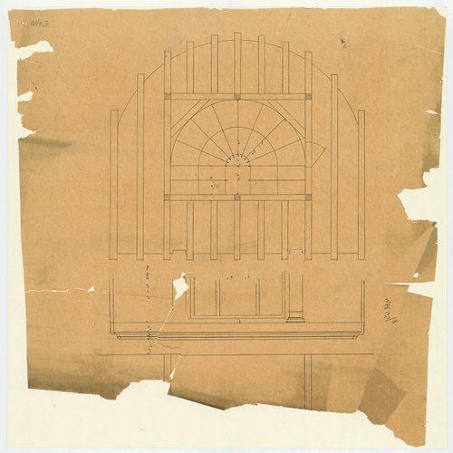 Károlyi György gróf palotabérháza. Íves lépcsőház feletti fö... [HU BFL - XV.17.f.331.b - 57/10]