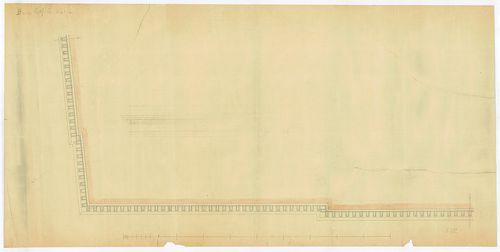 Károlyi György gróf palotabérháza. Főpárkány alulnézete. [HU BFL - XV.17.f.331.b - 57/12]