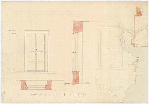 Károlyi György gróf palotabérháza. Udvari ablakok nézete, ví... [HU BFL - XV.17.f.331.b - 57/16]