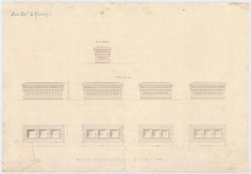 Károlyi György gróf palotabérháza. Kémények részlettervei. [HU BFL - XV.17.f.331.b - 57/17]