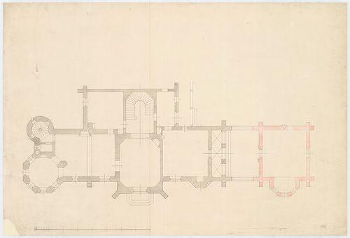 Wenckheim Béla báró kastélya. A kastély alaprajza a későbbi ... [HU BFL - XV.17.f.331.b - 62/1]