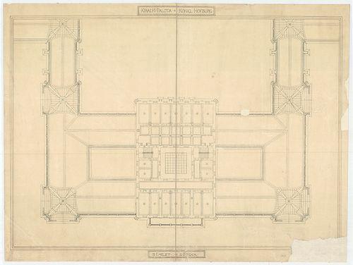 Királyi palota. Krisztinavárosi szárny harmadik emeleti alap... [HU BFL - XV.17.f.331.b - 64/1]