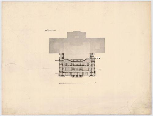 Királyi palota. Krisztinavárosi szárny, második pinceszinti ... [HU BFL - XV.17.f.331.b - 64/2]