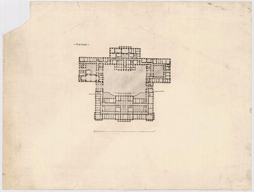 Királyi palota. Krisztinavárosi és dunai szárnyak földszinti... [HU BFL - XV.17.f.331.b - 64/4]