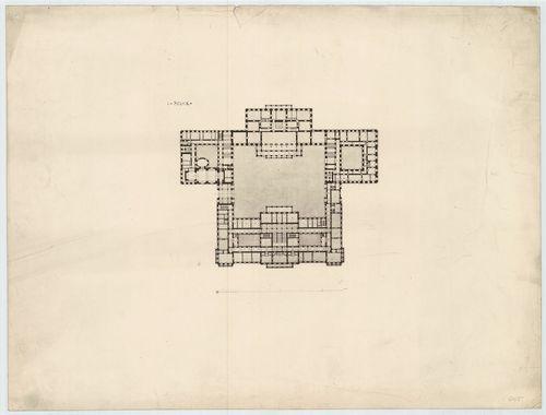 Királyi palota. Krisztinavárosi és dunai szárnyak első emele... [HU BFL - XV.17.f.331.b - 64/5]