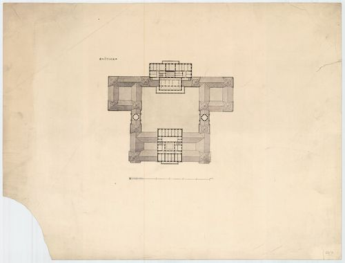 Királyi palota. Krisztinavárosi és dunai szárnyak harmadik e... [HU BFL - XV.17.f.331.b - 64/7]