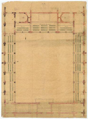 Régi Képviselőház. Emeleti alaprajz az ülések elrendezésével... [HU BFL - XV.17.f.331.b - 65/4]