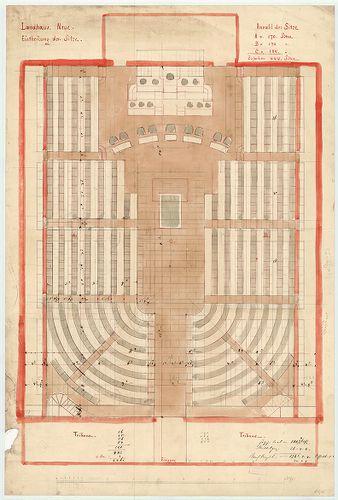 Régi Képviselőház. Ülésterem első (1866) átalakításának egyi... [HU BFL - XV.17.f.331.b - 65/5]