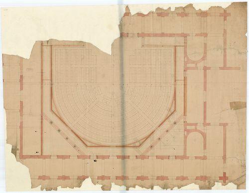 Régi Képviselőház. Az ülésterem átalakítása félkörívesre. [HU BFL - XV.17.f.331.b - 65/7]