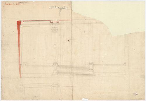 Régi Képviselőház. Az előcsarnok metszete falnézettel. [HU BFL - XV.17.f.331.b - 65/12]