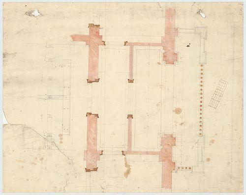 Régi Képviselőház. Emeleti alaprajzi részlet a főhomlokzati ... [HU BFL - XV.17.f.331.b - 65/13]