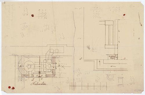 Régi Képviselőház. Gépészeti terv-vázlat. [HU BFL - XV.17.f.331.b - 65/17]