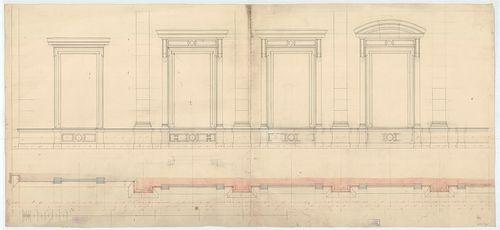 Régi Képviselőház. Emeleti utcai ablaksor vízszintes metszet... [HU BFL - XV.17.f.331.b - 65/19]