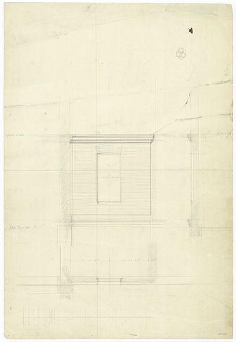 Régi Képviselőház. Homlokzatrészlet ablakkal, falmetszet. [HU BFL - XV.17.f.331.b - 65/20]