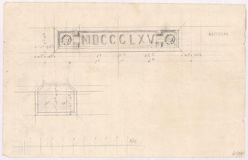 Régi Képviselőház. Évszámfeliratos tábla a főhomlokzaton. [HU BFL - XV.17.f.331.b - 65/74]