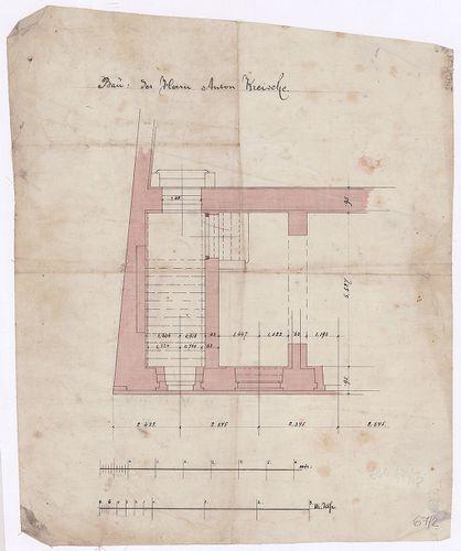 Kreische Antal bérháza. Pince alaprajzi részlete az egyik lé... [HU BFL - XV.17.f.331.b - 67/2]