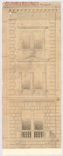 Kreische Antal bérháza. Homlokzati részlet. [HU BFL - XV.17.f.331.b - 67/3]