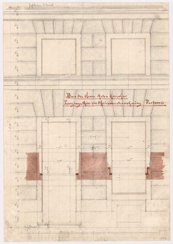 Kreische Antal bérháza. Földszinti házmesterlakás bejárata, ... [HU BFL - XV.17.f.331.b - 67/4]