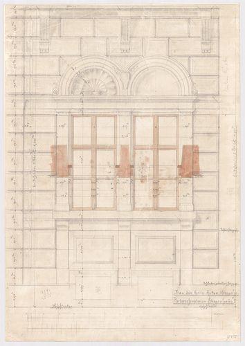 Kreische Antal bérháza. Földszinti lépcsőházi ablak az udvar... [HU BFL - XV.17.f.331.b - 67/5]