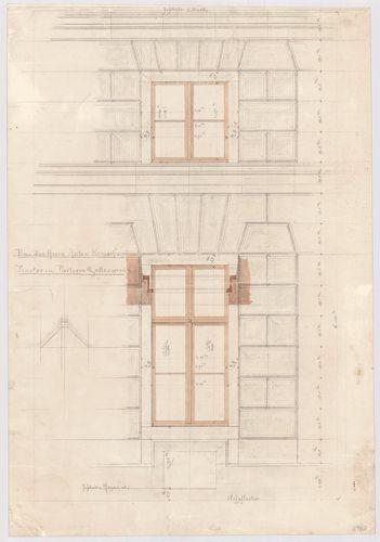 Kreische Antal bérháza. Földszinti és magasföldszinti ablak ... [HU BFL - XV.17.f.331.b - 67/6]
